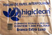 Branco Extra Luxo 22,5cm x 21,0cm Higiclean